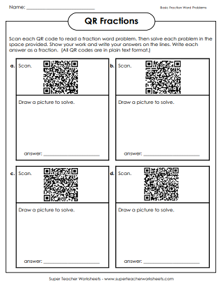 Printable QR Code Worksheets