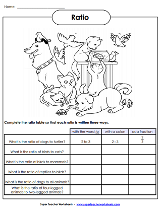 Ratio Worksheets
