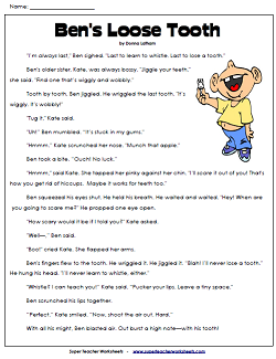 3rd Grade Reading Comprehension Printables