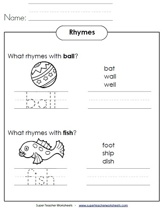 Worksheets Rhyming Words Reception Class rhyming word worksheets worksheets