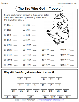 Rounding Money Worksheets