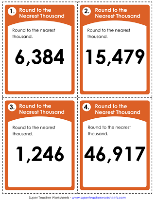 Task Cards - Rounding Nearest Thousand
