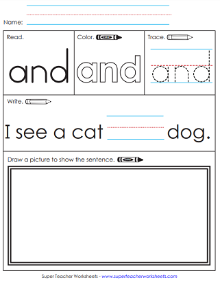 Color/Trace/Write - Sight Words Worksheets
