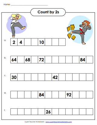photo about Printable Counting Worksheets known as Pass up Counting By way of 2s - Worksheets