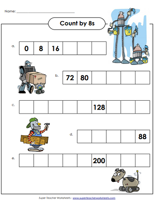 Count By 8s (Skip Counting Printables)