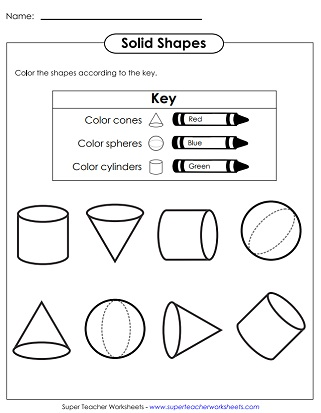Coloring Basic Solid Shapes