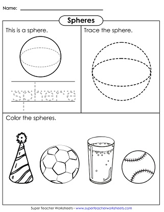 Solid Shapes Worksheets Very Basic