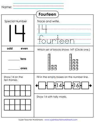 Math: Special Number Worksheets