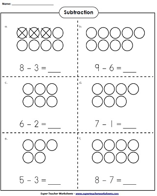 math worksheet : basic subtraction worksheets : Single Digit Subtraction Worksheets