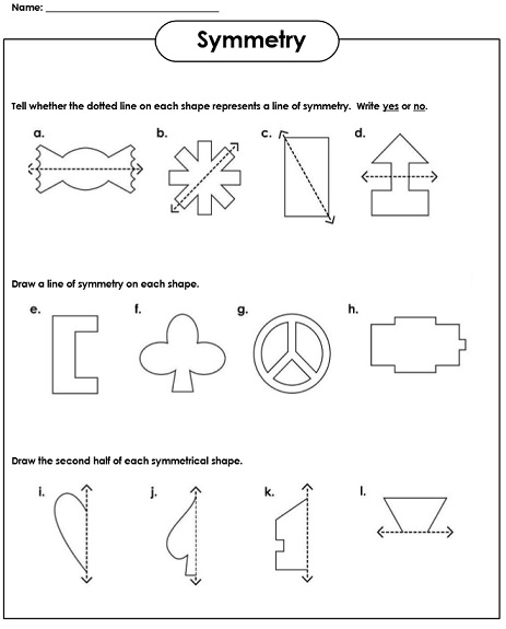 Vector Drawing Lines Worksheets : Symmetry worksheets