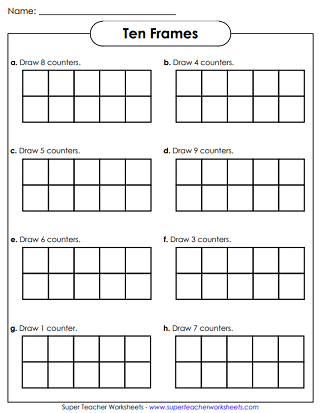 photograph regarding Ten Frame Printable identify 10-Frames Worksheets