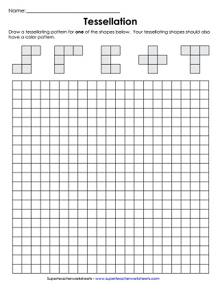 graphic regarding Tessellation Worksheets Printable identified as Tessellation Worksheets