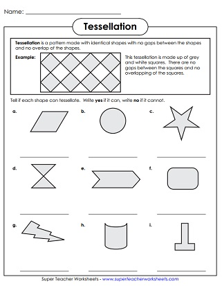 picture relating to Tessellation Worksheets Printable identified as Tessellation Worksheets