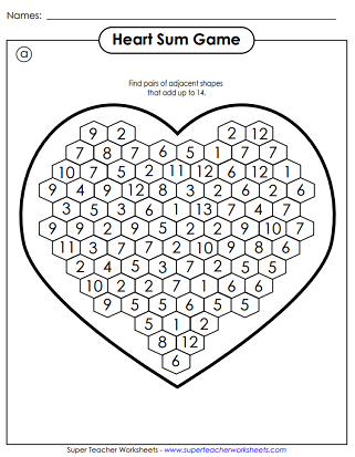 picture about Printable Valentines Craft identified as Valentines Working day Worksheets Puzzles