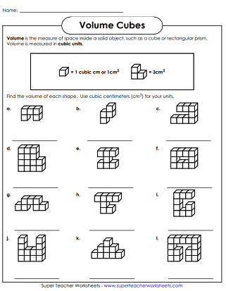 Volume Cubes - Worksheets
