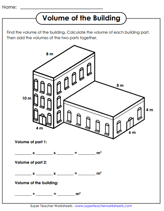 Volumes of Rectangular Prisms: Worksheets