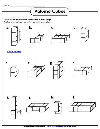 Volume Worksheets - Volume of a Solid