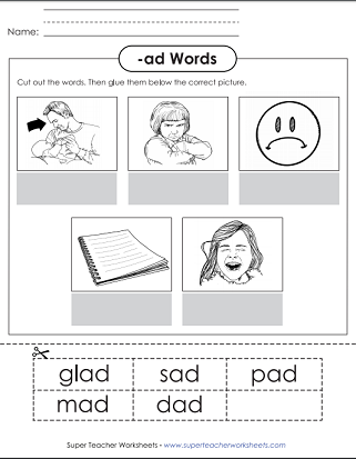 Word family unit ad ad word family worksheet ibookread Read Online