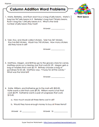 math word problem worksheets math word problems worksheets
