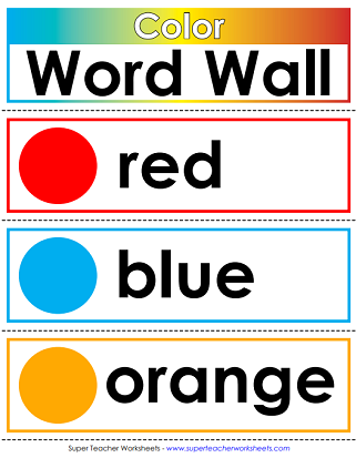 photo about Word Wall Printable known as Printable Term Partitions