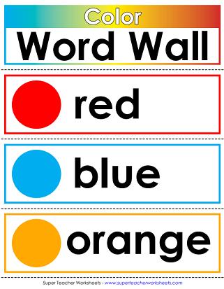 Printable Word Walls