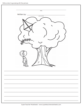 creative writing worksheets for kg2